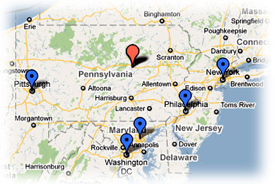 S & L Services, Inc. Map East Coast